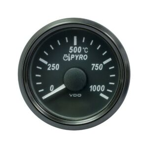 VDO SingleViu 1383 Pyrometer 1000 C 37.7 MV 52 mm -2 1/16' Schwarz A2C3833050001