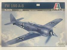2678 Italeri Focke Wulf Fw 190 a-8 Avión Modelos Plástico KIT 1:48 NUEVO EN CAJA
