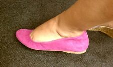 EUC J.Crew Cece Suede Ballet Flats Shoes in Wild Berry Pink Size 7.5 Medium