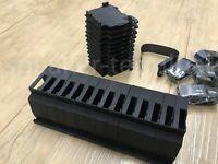 10 x Loxone SD Karte Adapter für Hutschiene (schwarz / Black)
