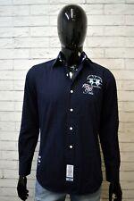 Camicia Blu Uomo LA MARTINA Taglia S Maglia Shirt Man Herrenhemd Manica Lunga