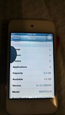 Apple iPod touch - 4th Gen - White (8 GB) - MD057LL/A - A1367  Screen Damage