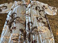 Gotcha Sport Mens Hawaiian Blue Button Down Shirt Size XL