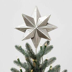 Hearth & Hand with Magnolia Star Tree Topper Silver NIB