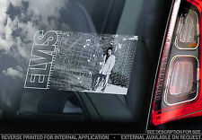 Elvis Presley - Car Window Sticker - King Rock'n'Roll Music Graceland Decal -V07