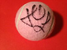 Lucie Hradecka Pink Wilson Hope Cancer Research Tennis Ball Signed Auto