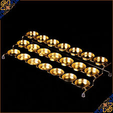 Tibet Tibetan Buddhist Buddha Butter Offering  Light lamp Holder Lotus Gilding
