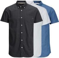 Jack & Jones - JORDIRK Shirt SS Slim Fit Kurzarm Hemd - 12120888 in 3-Farben
