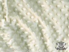 Ivory Fabric Minky Fabric Minky Dot Fabric Soft Fabric Sewing Fabric By The Yard