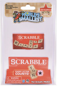 World's Smallest SCRABBLE Board Game MAGNETIC LETTERS Toy Miniature