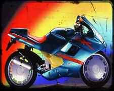 GILERA Cx125 91 A4 Foto Impresión moto antigua añejada De