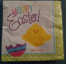 Spring Chick Easter Party Napkins 16 ct Package New By Unique Inc.