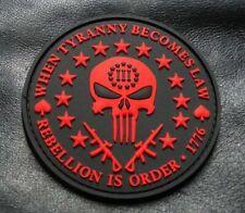 MTT1 THREE 3/% PERCENTER PUNISHER 2ND AMENDMENT NRA HOOK FASTENER MORALE PATCH