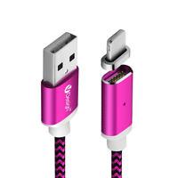 1/2/3M 2.4A Adaptateur LED magnétique Câble chargeur pour iPhone5 5s SE 6 6S 7 8