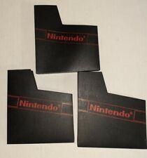 Lot of 3 Authentic Nintendo NES Dust Covers NES Game Cartridge Sleeves OEM Logo