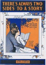 There's Always Two Sides To A Story, WW I Era Folio Sheet Music, 1920