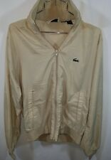 Lacoste Izod Vintage Full Zip Light Jacket SzM Alligator In Beige