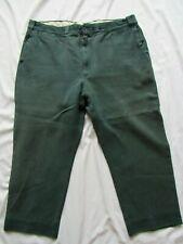 Vtg 50s Sanforized Boat Sail Cloth Work Wear Pants Green Gab Twill 39x25.5 Rare