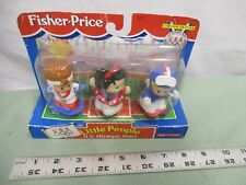 Fisher-Price Little People NEW Box Olympic Stars Winter Skier Hockey Ice Skate