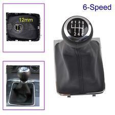 6 Speed VW PASSAT B6 3C2 3C5 Gear Shift Knob Stick Gaiter Boot Cover Frame 12mm