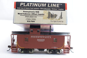 HO-Walthers 932-7641 Pennsylvania RR N6B Offset Cupola Wood Caboose 980105