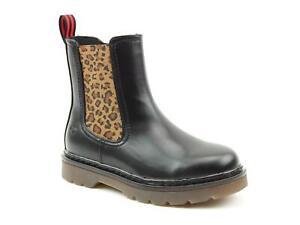Heavenly Feet Saint Women's Chelsea Boots Black/Leopard