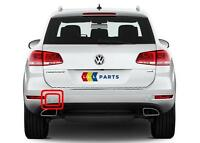 VW TOUAREG 10-14 NEW GENUINE REAR BUMPER N/S LEFT TOW HOOK COVER CAP 7P6807449