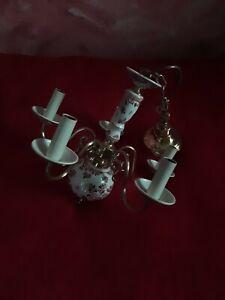 Kronleuchter Porzellan Deckenleuchte Deckenlampe 5 Arme armig
