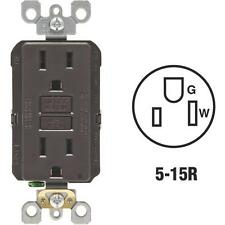 3-Leviton Self-Test 15A Brown Residential Grade 5-15R Gfci Outlet R00-Gfnt1-00K