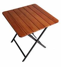 B-Ware Aluminium Klapptisch Gartentisch Balkontisch Holztisch Beistelltisch Brau