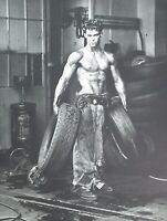 1984 HERB RITTS large Vintage Photo Gravure MALE SEMI NUDE Fred Tires Physique