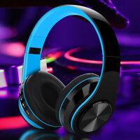 Wireless Bluetooth 5.0 Headphone Foldable Stereo Earphone Super Bass Headset Mic