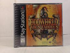 ODDWORLD ABES EXODDUS --- PLAYSTATION PS1 Complete CIB w/ Box, Manual