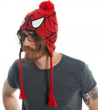 Beanie Spiderman Knitted Laplander Hat Cap With Ear Flap
