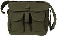 Olive Drab 2 Pocket Canvas Military Ammo Carry Shoulder Bag