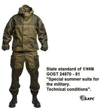 Gorka 3 BARS cotton camo suit hood mountain army wind water-repellent breathable