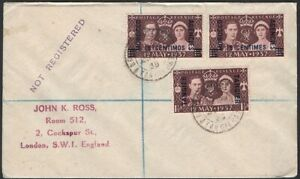 GREAT BRITAIN, 1938. Cover Morocco Agencies 82 (3), BPO Tangier - London
