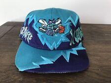 Vintage Drew Pearson Charlotte Hornets Grafitti Snapback 90's NBA Big Logo