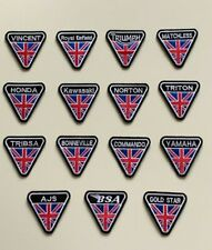 Motorcycles Biker Rocker badges -UNION JACK- Iron Sew On Embroidered Patches