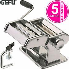 GEFU Pasta Perfetta Nudelmaschine Edelstahl Pasta Teig Maschine inkl. 1x Aufsatz