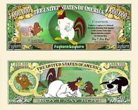 Wrestling Million Dollar Bill Play Funny Money Novelty Note FREE SLEEVE RARE