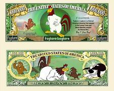 Foghorn Leghorn Million Dollar Bill Collectible Fake Funny Money Novelty Note