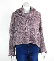 Free People BFF Cowl Neck Sweater Slouchy Fuzzy Dropped Sleeves Small New