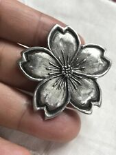 Cynthia Webb Pewter The Earth Laughs With Flowers  Pin Brooch