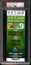 PSA Ticket Football HOF GM 2016 Green Bay Packers Colts Cancelled - Paint Full