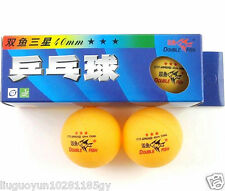 6 Boxes (18 Pcs) Double Fish 3 Stars 40MM Olympic Games Orange Ping Pong Balls