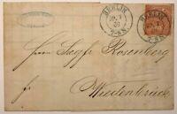 EF Norddeutscher Postbezirk Berlin - Rechnung - Berlin n. Wiedenbrück 1869