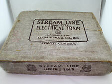 Louis Marx & Co. Stream Line Steam type Electrical Train Set 35 mm en neuf dans sa boîte