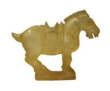 Chinese Clear Crystal Glass Vintage Dusty Finish Horse Figure cs3654