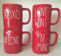 Rae Dunn Red XOXO Be Mine Love Wins # Love Valentine Mugs  NWT ❤️